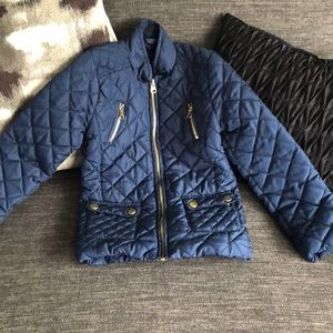 Me Jane blue quilted jacket size 4!